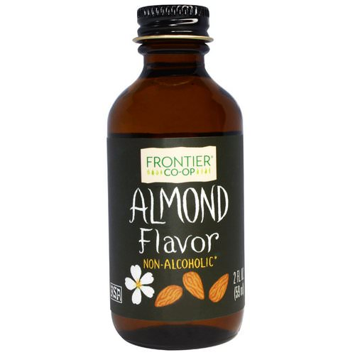Frontier Natural Products, Almond Flavor, Non-Alcoholic, 2 fl oz (59 ml) Review