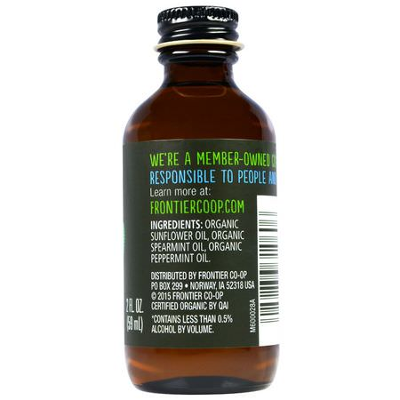 提取物, 調味料: Frontier Natural Products, Organic Mint Flavor, Non-Alcoholic, 2 fl oz (59 ml)