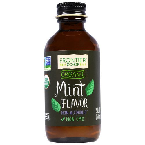 Frontier Natural Products, Organic Mint Flavor, Non-Alcoholic, 2 fl oz (59 ml) Review