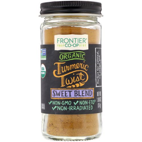 Frontier Natural Products, Organic Turmeric Twist, Sweet Blend, 1.80 oz (51 g) Review
