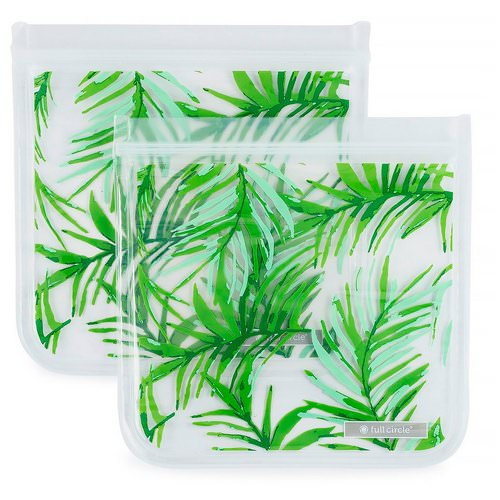 Full Circle, ZipTuck, Reusable Sandwich Bags, Palm Leaves, 2 Bags Review