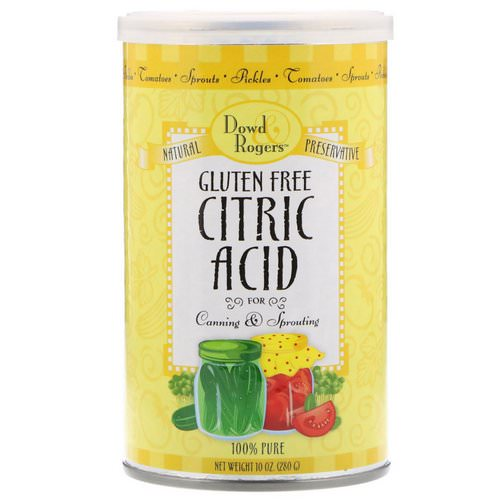 FunFresh Foods, Dowd & Rodgers, Citric Acid, Gluten Free, 10 oz (280 g) Review