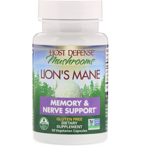 Fungi Perfecti, Lion's Mane, Memory & Nerve Support, 30 Vegetarian Capsules Review