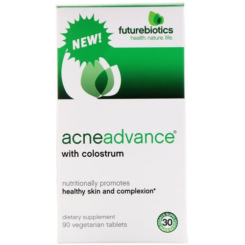 FutureBiotics, Acne Advance with Colostrum, 90 Vegetarian Tablets Review