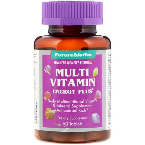FutureBiotics, Advanced Women's Formula, Multi Vitamin Energy Plus, 60 Tablets Review