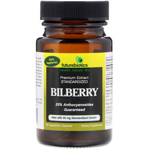 FutureBiotics, Bilberry, 60 Vegetarian Capsules Review