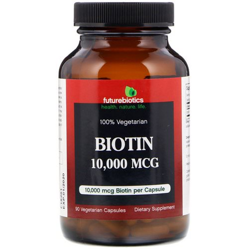 FutureBiotics, Biotin, 10,000 mcg, 90 Vegetarian Capsules Review