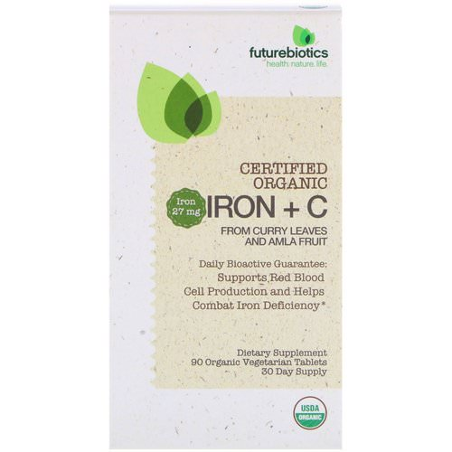 FutureBiotics, Certified Organic Iron + C, 90 Organic Vegetarian Tablets Review