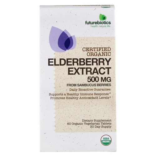 FutureBiotics, Elderberry Extract, 500 mg, 60 Organic Vegetarian Tablets Review
