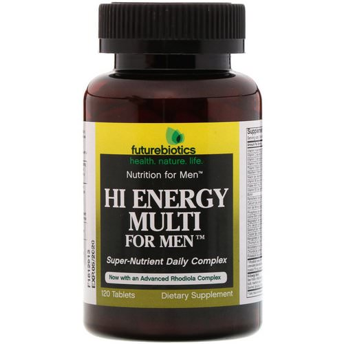 FutureBiotics, Hi Energy Multi, For Men, 120 Tablets Review