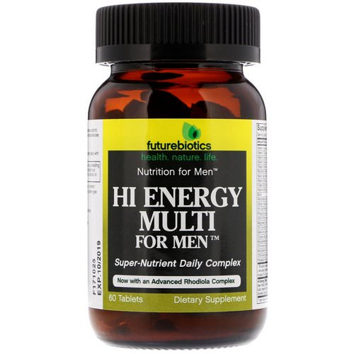 FutureBiotics, Hi Energy Multi, For Men, 60 Tablets Review