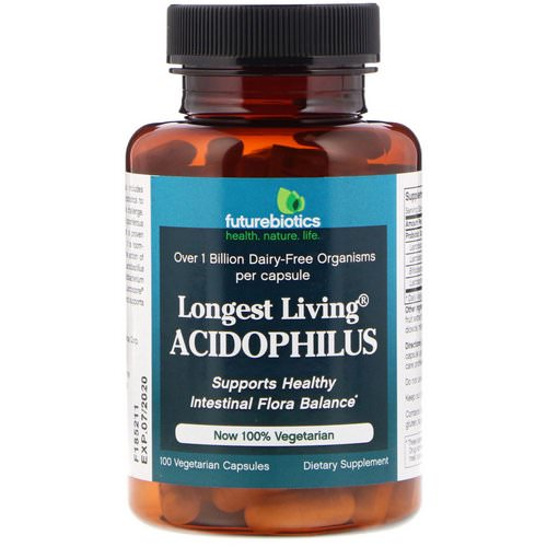 FutureBiotics, Longest Living Acidophilus, 100 Vegetarian Capsules Review