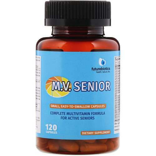 FutureBiotics, M.V. Senior Complete Multivitamin Formula, 120 Capsules Review