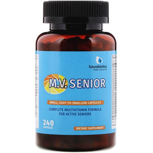 FutureBiotics, M.V. Senior, Complete Multivitamin Formula, 240 Capsules Review