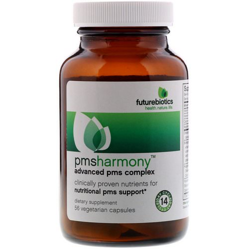 FutureBiotics, PMSHarmony, Advanced PMS Complex, 56 Vegetarian Capsules Review