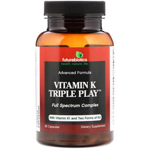 FutureBiotics, Vitamin K Triple Play, 60 Capsules Review