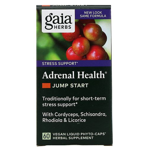 Gaia Herbs, Adrenal Health, Jump Start, 60 Vegan Liquid Phyto-Caps Review