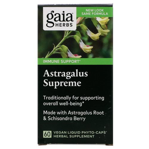 Gaia Herbs, Astragalus Supreme, 60 Vegan Liquid Phyto-Caps Review