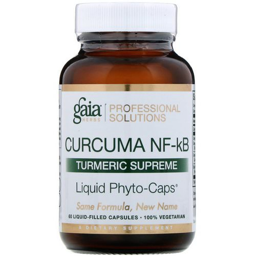 Gaia Herbs Professional Solutions, Curcuma NF-kB, Turmeric Supreme, 60 Liquid-Filled Capsules Review