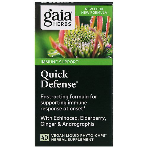 Gaia Herbs, Quick Defense, 40 Vegan Liquid Phyto-Caps Review