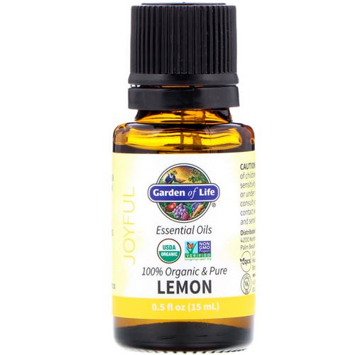 Garden of Life, 100% Organic & Pure, Essential Oils, Joyful, Lemon, 0.5 fl oz (15 ml) Review