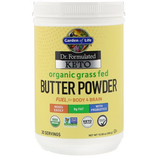 Garden of Life, Dr. Formulated Keto Organic Grass Fed Butter Powder, 10.58 oz (300 g) Review