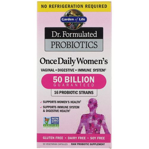Garden of Life, Dr. Formulated Probiotics, Once Daily Women's, 30 Vegetarian Capsules Review