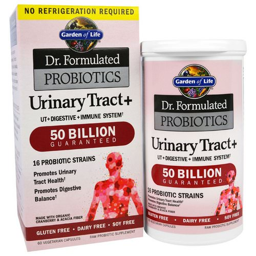 Garden of Life, Dr. Formulated Probiotics, Urinary Tract+, 60 Veggie Caps Review