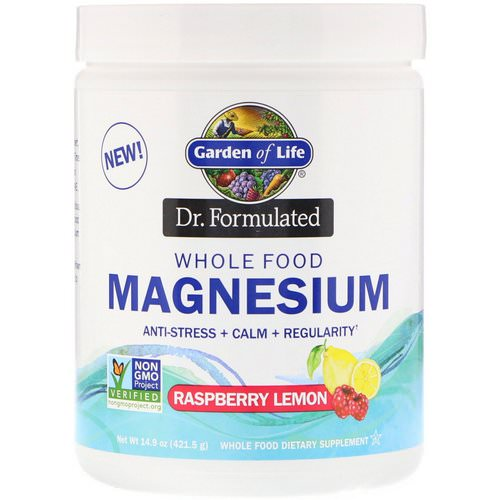 Garden of Life, Dr. Formulated, Whole Food Magnesium Powder, Raspberry Lemon, 14.9 oz (421.5 g) Review