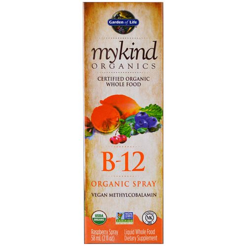 Garden of Life, MyKind Organics, B-12 Organic Spray, Raspberry, 2 oz (58 ml) Review