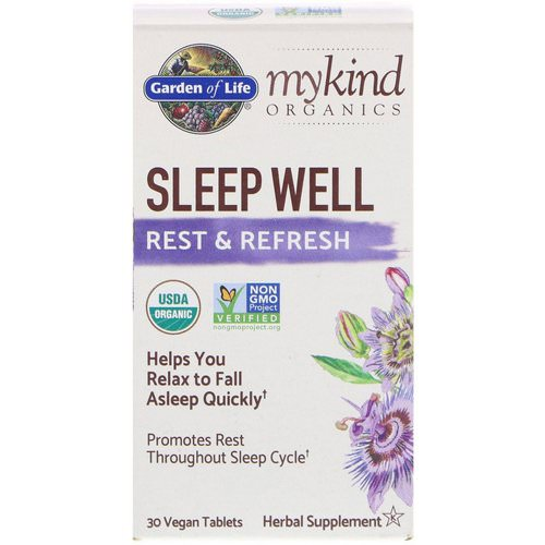 Garden of Life, MyKind Organics, Sleep Well, Rest & Refresh, 30 Vegan Tablets Review