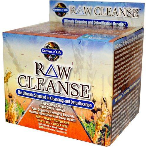 Garden of Life, RAW Cleanse, The Ultimate Standard in Cleansing and Detoxification, 3 Part Program, 3 Step Kit Review