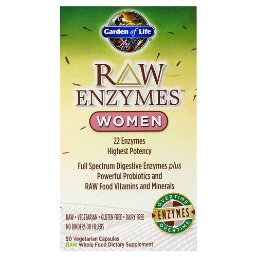 Garden of Life, RAW Enzymes, Women, 90 Veggie Caps Review