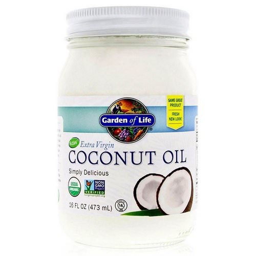Garden of Life, Raw Extra Virgin Coconut Oil, 16 fl oz (473 ml) Review