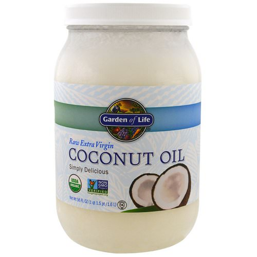Garden of Life, Raw Extra Virgin Coconut Oil, 56 fl oz (1.6 l) Review