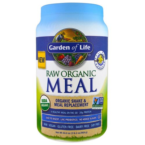 Garden of Life, RAW Organic Meal, Shake & Meal Replacement, Vanilla, 2.13 lbs (969 g) Review