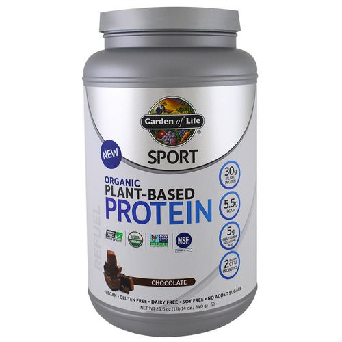 Garden of Life, Sport, Organic Plant-Based Protein, Refuel, Chocolate, 1.85 lbs (840 g) Review