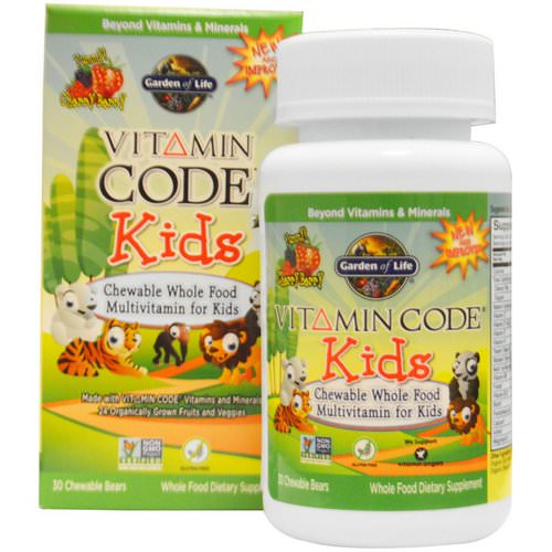 Garden of Life, Vitamin Code, Kids, Chewable Whole Food Multivitamin for Kids, Cherry Berry, 30 Chewable Bears Review