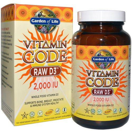 Garden of Life, Vitamin Code, Raw D3, 2,000 IU, 120 Vegetarian Capsules Review