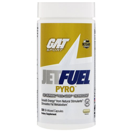 GAT, JetFuel Pyro, Fat-Burning Thermogenic, 120 Oil-Infused Capsules Review