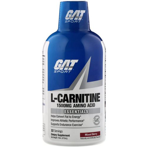GAT, Liquid L-Carnitine, Mixed Berry, 1500 mg, 16 oz (473 ml) Review