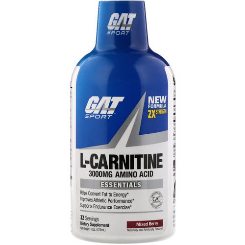GAT, Liquid L-Carnitine, Mixed Berry, 3000 mg, 16 oz (473 ml) Review