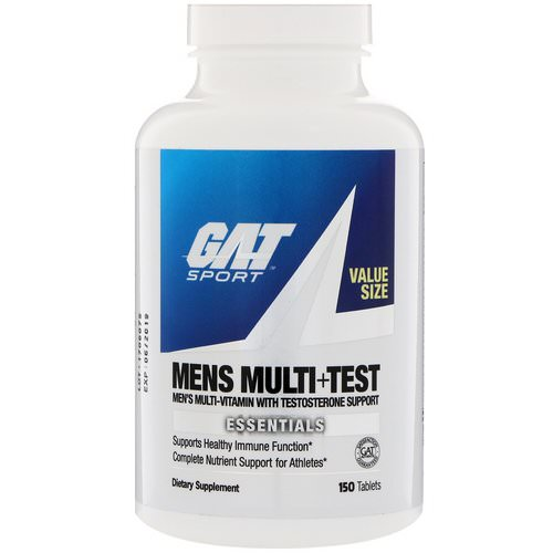 GAT, Mens Multi + Test, 150 Tablets Review