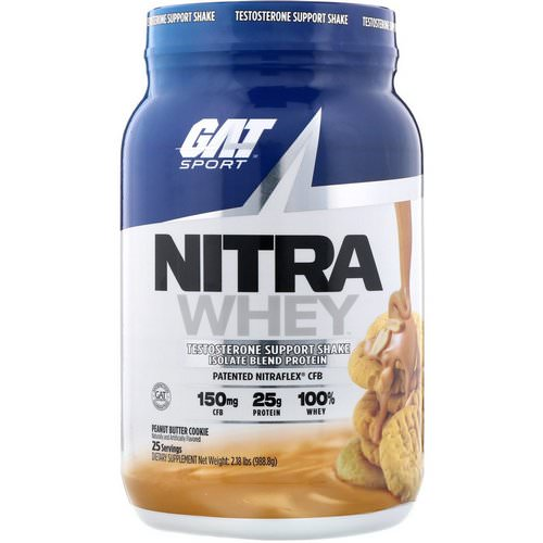 GAT, Nitra Whey, Testosterone Support Shake, Peanut Butter Cookie, 2.18 lb (988.8 g) Review