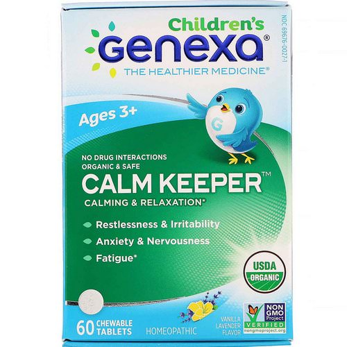 Genexa, Calm Keeper, Calming & Relaxation, Vanilla Lavender Flavor, Ages 3+, 60 Chewable Tablets Review
