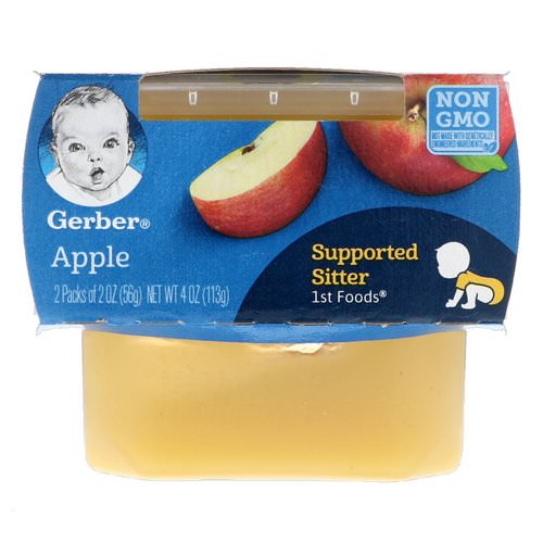 Gerber, 1st Foods, Apple, 2 Pack, 2 oz (56 g) Each Review
