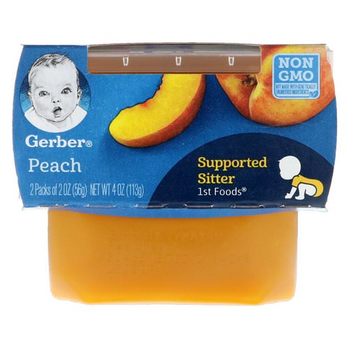 Gerber, 1st Foods, Peach, 2 Pack, 2 oz (56 g) Each Review