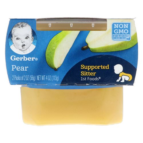 Gerber, 1st Foods, Pear, 2 Pack, 2 oz (56 g) Each Review