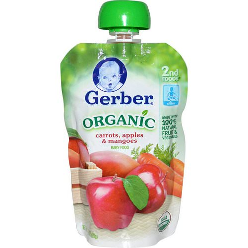 Gerber, 2nd Foods, Organic Baby Food, Carrots, Apples & Mangoes, 3.5 oz (99 g) Review