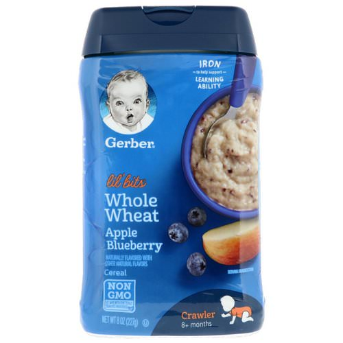Gerber, Lil' Bits, Whole Wheat Cereal, Crawler, 8+ Months, Apple Blueberry, 8 oz (227 g) Review